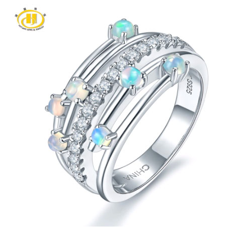 Gemstone Opal Elegant Rings Design for Women