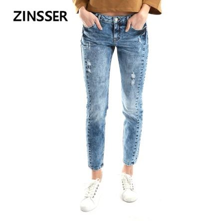 Women Denim Skinny Winter Pants