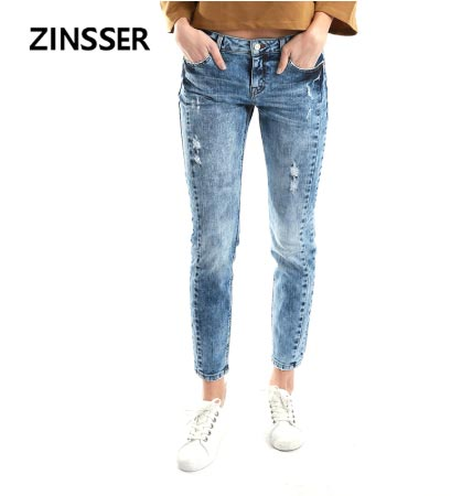 Women Denim Skinny Winter Pants