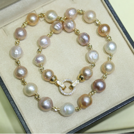 Women Colorful Necklace 10-11MM