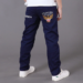 Casual Spring Solid Cotton Mid Elastic Waist Pants For Baby