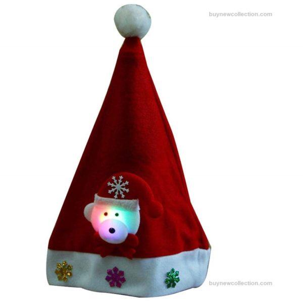 ED Light Up Cap Santa Special for Merry Christmas