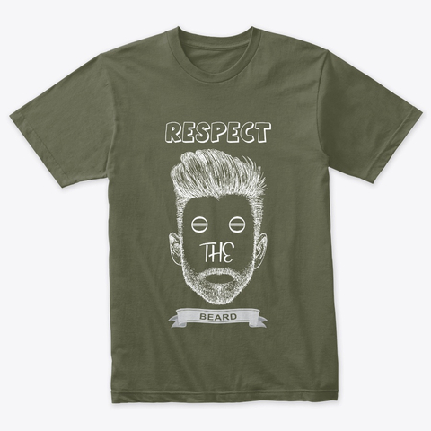 Respect beard text t-shrit