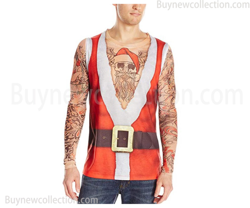 3D Photo-Realistic Ugly Christmas Tattoo t-shirt Ugly Christmas buy new collection