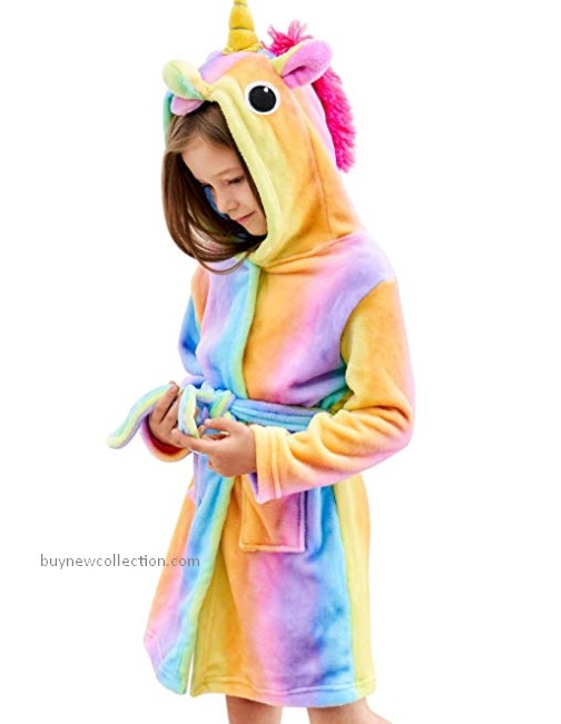 Cartoon type Unicorn Hooded clothes for girls and kids