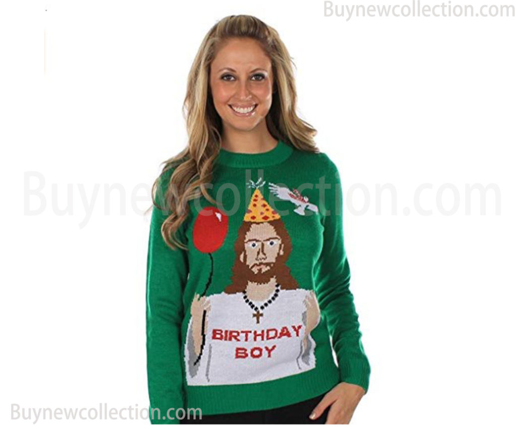 Christmas Happy Birthday Sweater Ugly Christmas buy new collection