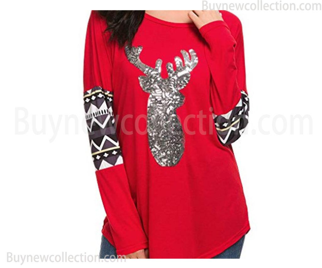 Christmas Shirts long sleeve tops blouse Ugly Christmas buy new collection
