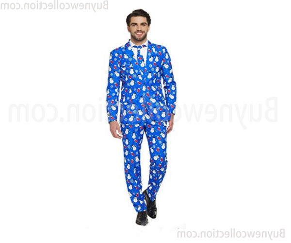 Christmas Ugly Suits for Men fasion Includes Jacket Pants & Tie (1)