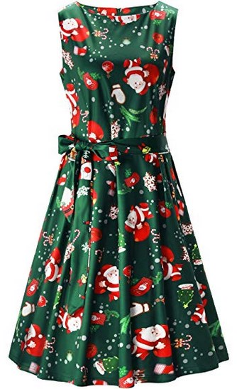Cocktail-Dress-for-Womens-with-Christmas-design