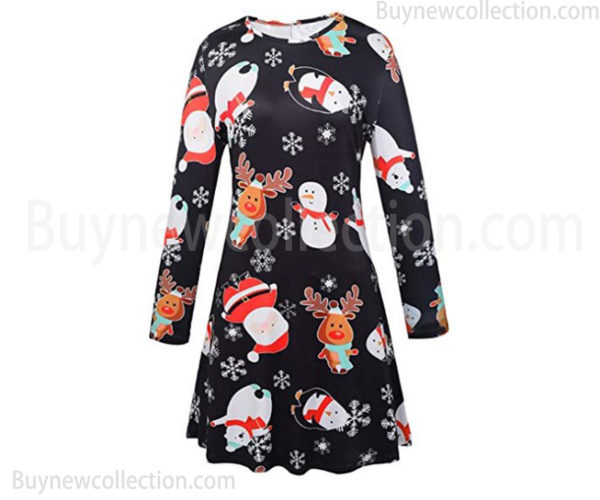 Christmas-dress-for-Womens-with-Santa-Claus