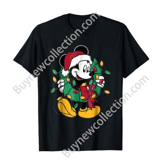 Disney Mickey Mouse Christmas t-shirt for kids