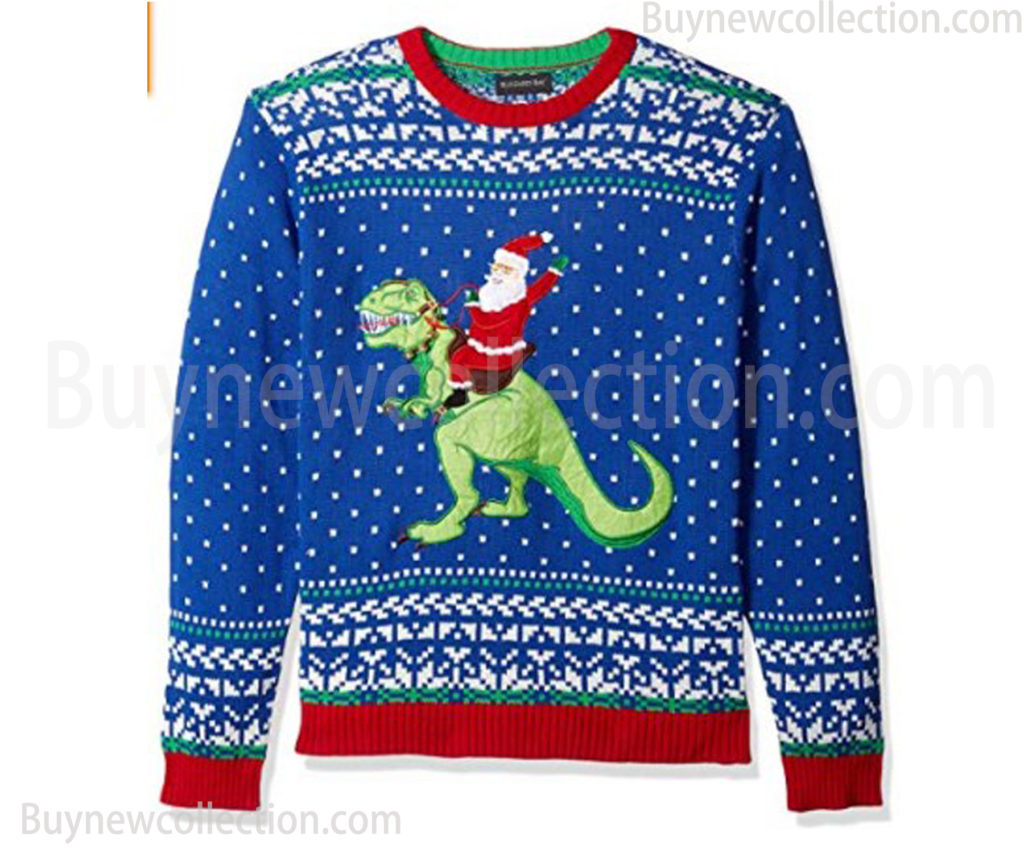 Men's Ugly Christmas Sweater Dinosaur Ugly Christmas buy new collection