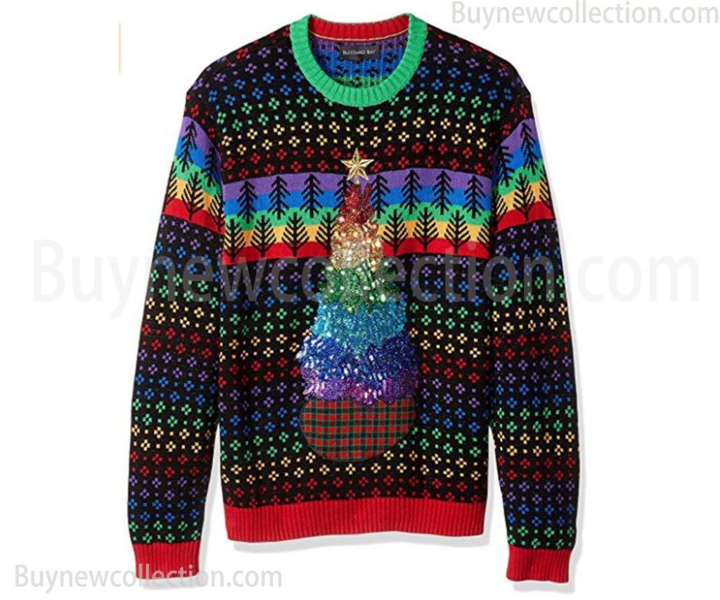 Men's Ugly Christmas Sweater Trees Ugly Christmas buy new collection