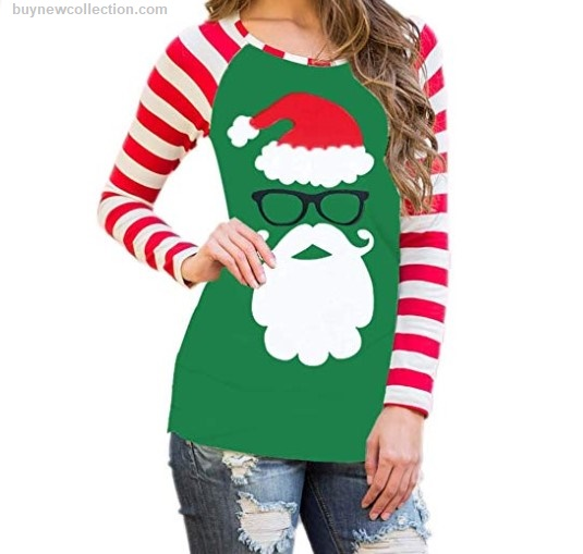 Santa T Shirt Tops for women special Christmas Ugly Christmas buy new collection