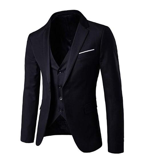 Men's Slim Fit Party Jacket Vest & Pants Suit