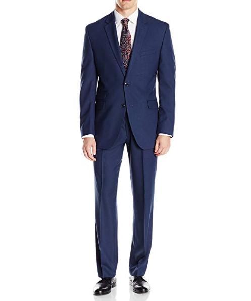 Men's Slim Fit Suit Notch lapel Hemmed Pant
