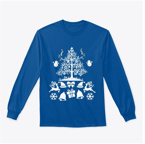 Christmas tree with gift t-shirt for men and women