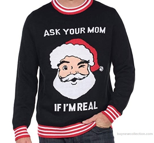 Ugly Christmas Sweater - Ask Your Mom Ugly Christmas buy new collection