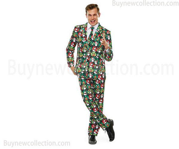 Ugly Christmas Men's Suits with Jacket