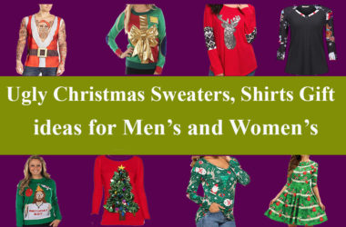 Ugly Christmas sweaters, shirts and T-shirt as Christmas gift ideas for men's and women's